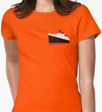 Cartoony Queen Mary Womens Fitted T-Shirt