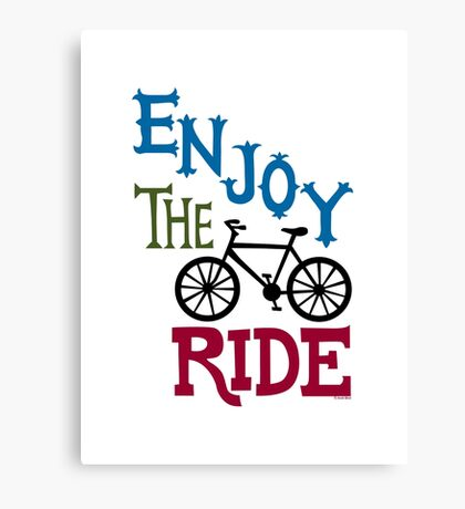 Enjoy the Ride - light Canvas Print