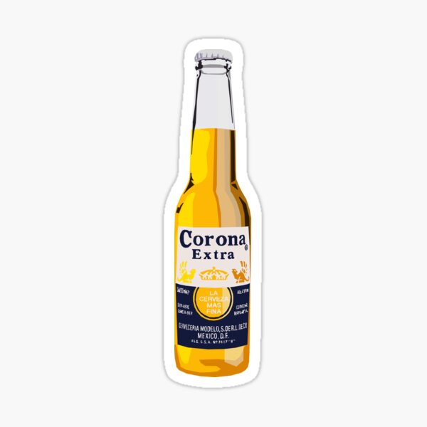 Corona Bottle Sticker