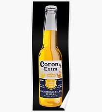 Corona Bottle Poster