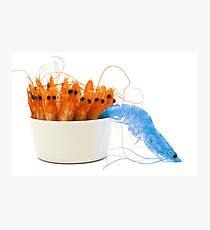 Blue shrimp escape Photographic Print