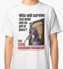 Texas Chainsaw Massacre Movie Poster Classic T-Shirt