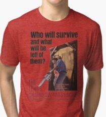 Texas Chainsaw Massacre Movie Poster Tri-blend T-Shirt