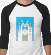 Small World Illustration Men's Baseball ¾ T-Shirt