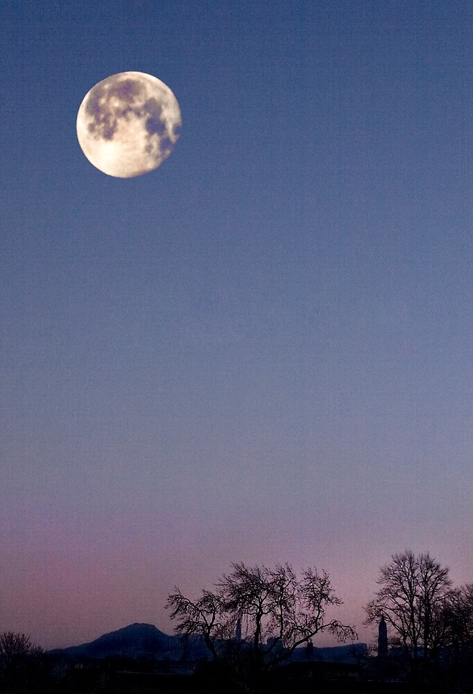 Winter Moonrise II by Chris Clark