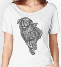 Golden Retriever Hand-drawn Women's Relaxed Fit T-Shirt