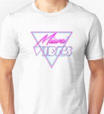 """Miami Vibes"" - Retro Néon 80's Style Unisex T-Shirt"