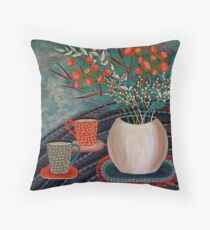 'Tea for Two' Throw Pillow