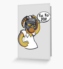 Skyrim - Fus Ro D'oh Greeting Card