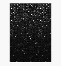 Black Crystal Bling Strass G283 Photographic Print