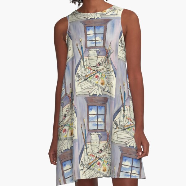 Window into Art A-Line Dress