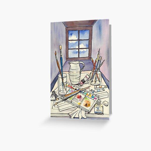 Window into Art Greeting Card