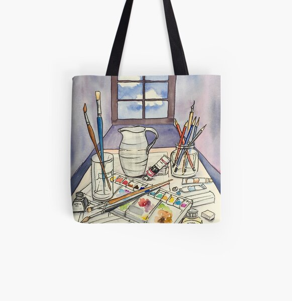 Window into Art All Over Print Tote Bag