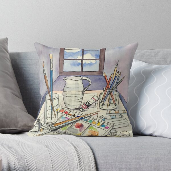 Window into Art Throw Pillow