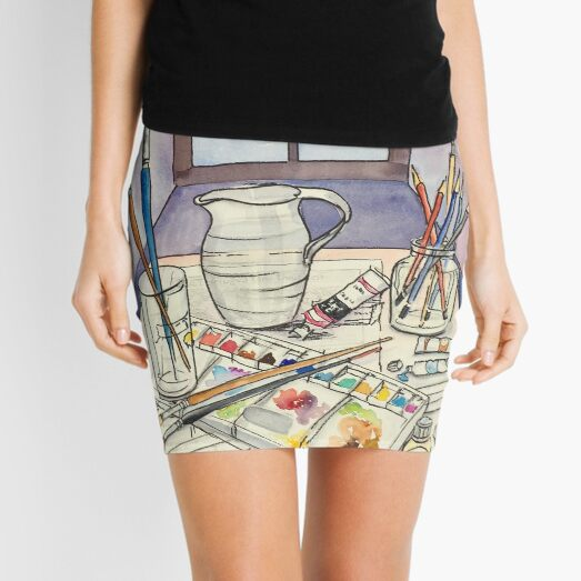 Window into Art Mini Skirt