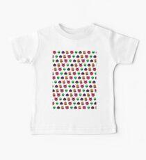 pixel face pattern Kids Clothes
