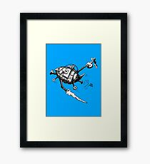Rats in Space Framed Print