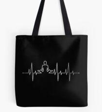 Yoga Heartbeat Tote Bag