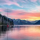 Queenstown Lakeside Sunset by Ian Rushton