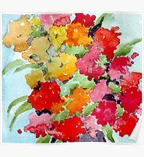 Colourful Spring garden Poster
