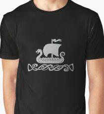 Dragon Boat - Silver Grey Graphic T-Shirt