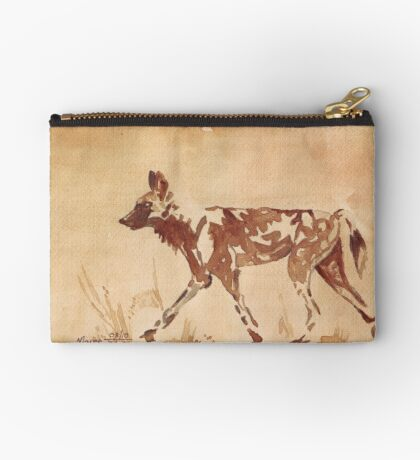 Painted Dog - African Wild Dog Zipper Pouch