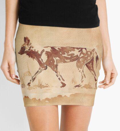Painted Dog - African Wild Dog Mini Skirt