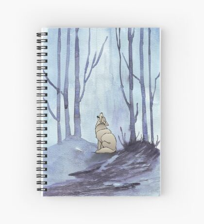 From silvery woods there comes a call - Log cabin décor  Spiral Notebook