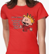 Calvin and Hobbes Reality Womens Fitted T-Shirt