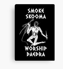 Skyrim - Smoke Skooma Worship Daedra Canvas Print