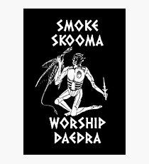 Skyrim - Smoke Skooma Worship Daedra Photographic Print