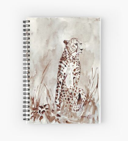 The Cheetah (Acinonyx jubatus)  Spiral Notebook