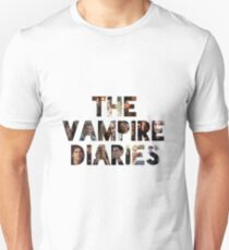 The Vampire Diaries -block letters filled with characters Unisex T-Shirt