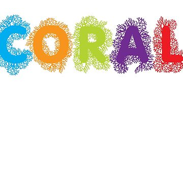 Coral Not Coal - White on Black by f22design