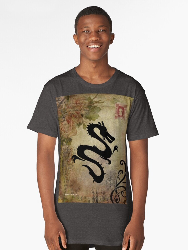 Dragons & Roses Long T-Shirt Front