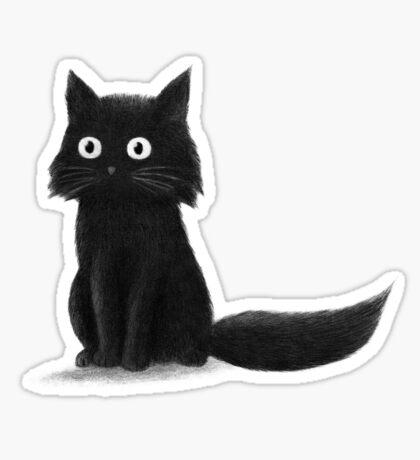 Sitting Cat  Sticker