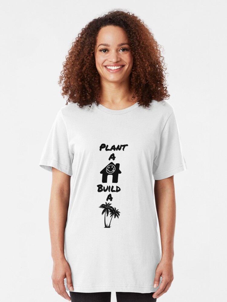 Nirvana Breed Plant A House Build A Tree Design T Shirt By