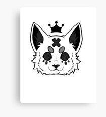 Cat Ruler (White) Canvas Print