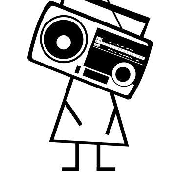 RADIO-FACE (Black) by JLGMedia