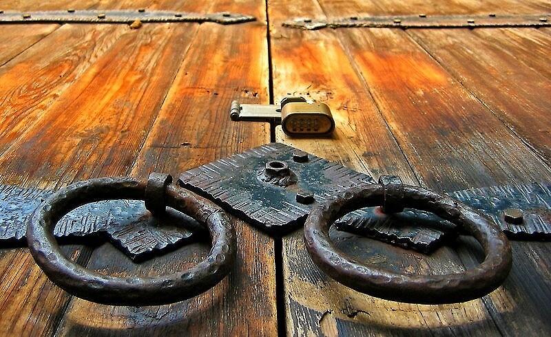 Old Door in Kona by Ran Richards