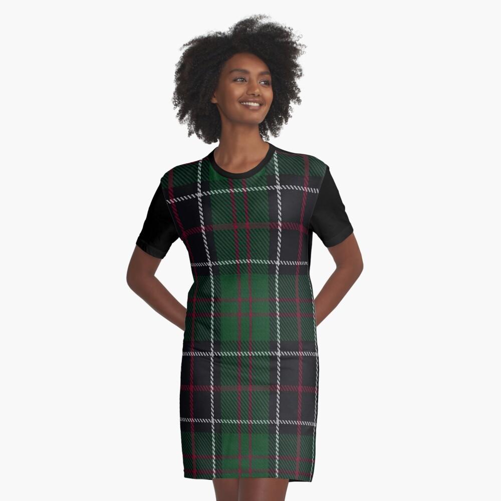 Sinclair-Jagd-Clan / Familien-Tartan T-Shirt Kleid