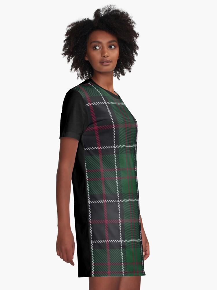 Alternative Ansicht von Sinclair-Jagd-Clan / Familien-Tartan T-Shirt Kleid