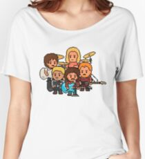 Pixel Rock n Roll Band Women's Relaxed Fit T-Shirt
