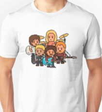 Pixel Rock n Roll Band Unisex T-Shirt