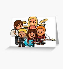 Pixel Rock n Roll Band Greeting Card