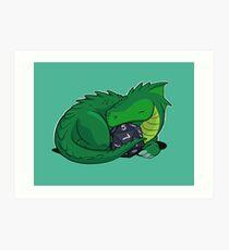 Lámina artística D20 Green Dragon