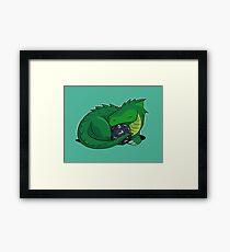 D20 Green Dragon Framed Print
