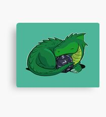 D20 Green Dragon Canvas Print