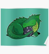D20 Green Dragon Poster