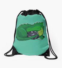 D20 Green Dragon Drawstring Bag